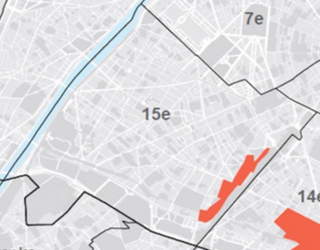 Carte secteur Castagnary avant concertation Contrat Paris Commerce
