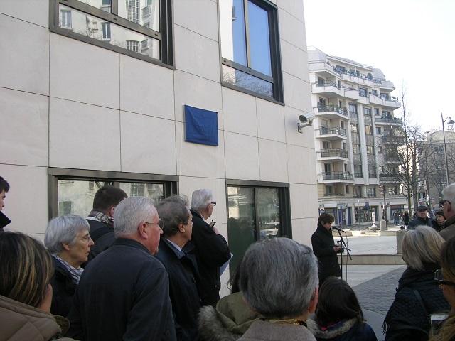 Discours inauguration plaque Joseph Taupin Paris 15