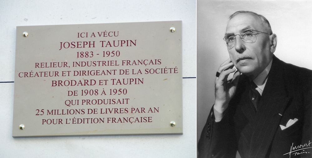 Jospeh Taupin - Inauguration plaque - Paris 15
