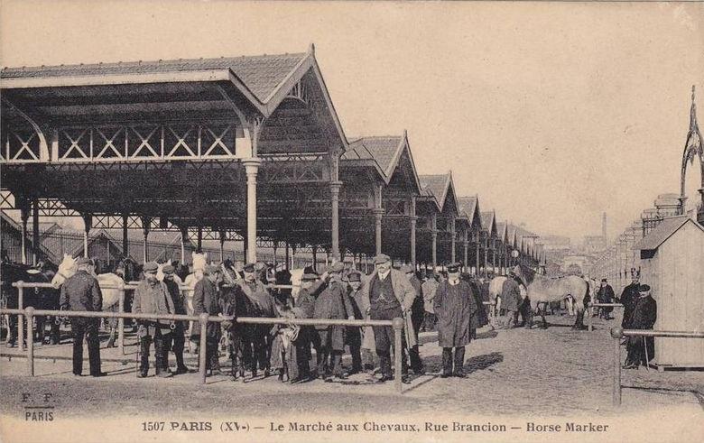 Marché aux chevaux rue Brancion