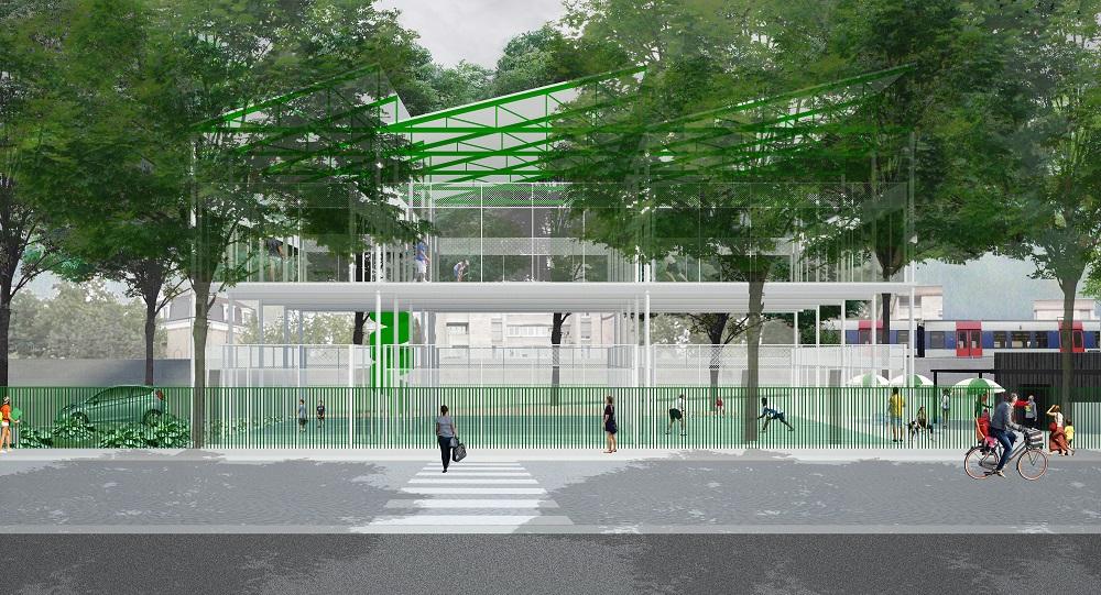 Padel en étage - UCPA Sport Access - NP2F architectes - Paris 15