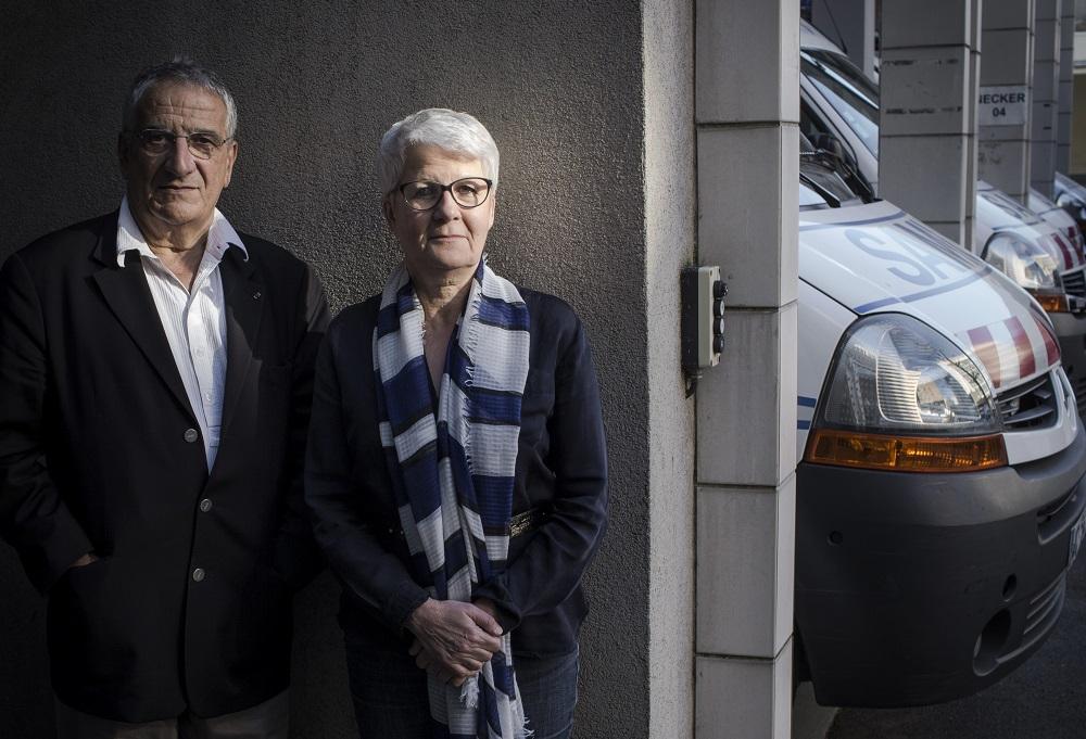 Xavier Emmanuelli et Suzanne Tartière, co-auteurs du livre - En cas d'urgence faites le 15 - Albin-Michel. Paris avril 2015
