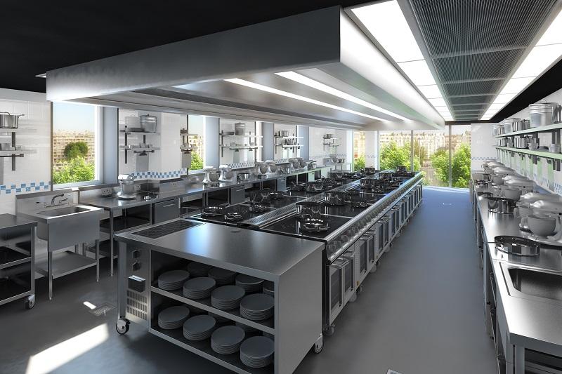 Campus Cordon Bleu - salle de pratique - Front de Seine - paris 15