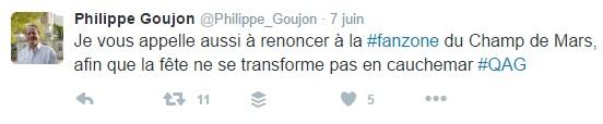 Tweet de Philippe Goujon