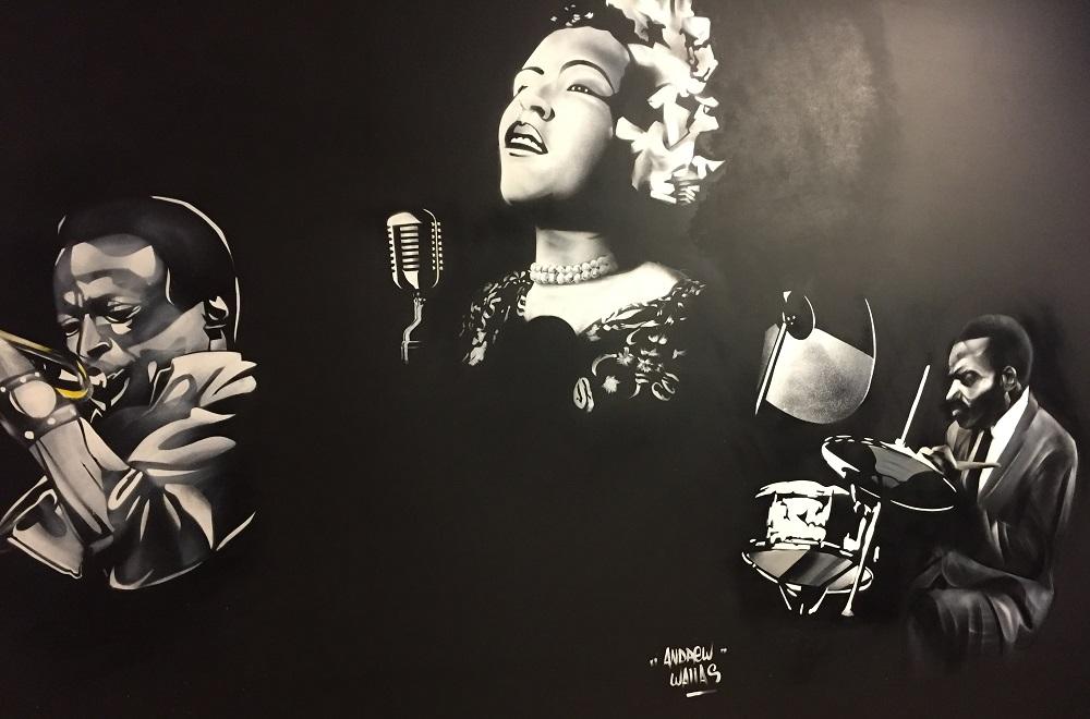 Bal Blomet - fresque Andrew Wallas - Paris 15