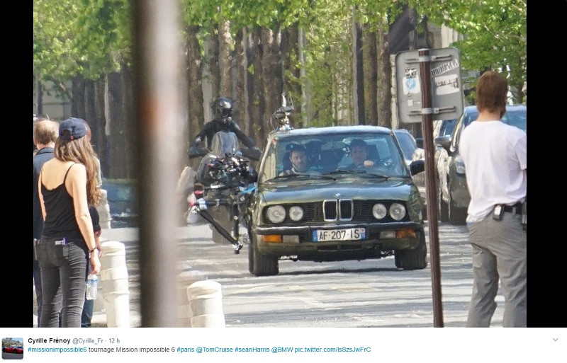 Mission Impossible 6 - Tome Cruise - tournage Paris 15