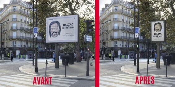 Nouveau Panneau Publicitaire JCDecaux - Paris 15