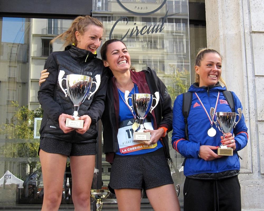 Corrida du XVeme 2017 - podium Femmes