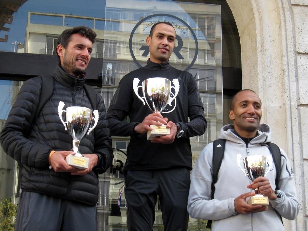 Corrida du XVeme 2017 - podium Hommes