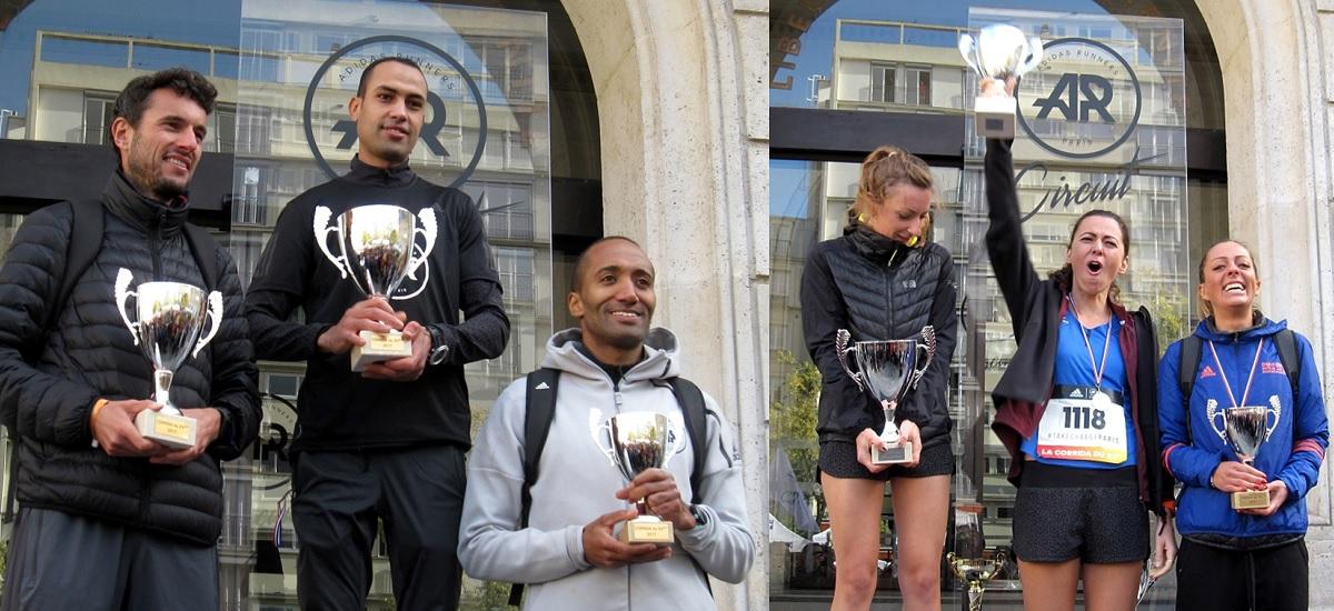 Corrida du XVeme 2017 - vainqueurs