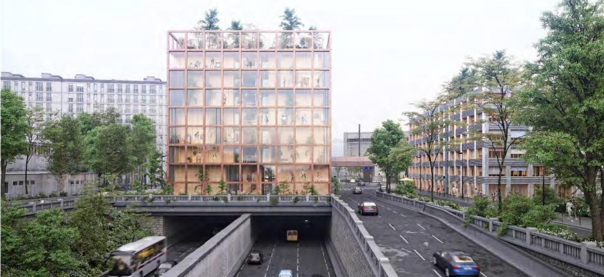 Inventons Métropole Grand Paris - Porte Brancion - Woodeum SAS - cabinets Hardel et Le BIhan architectes