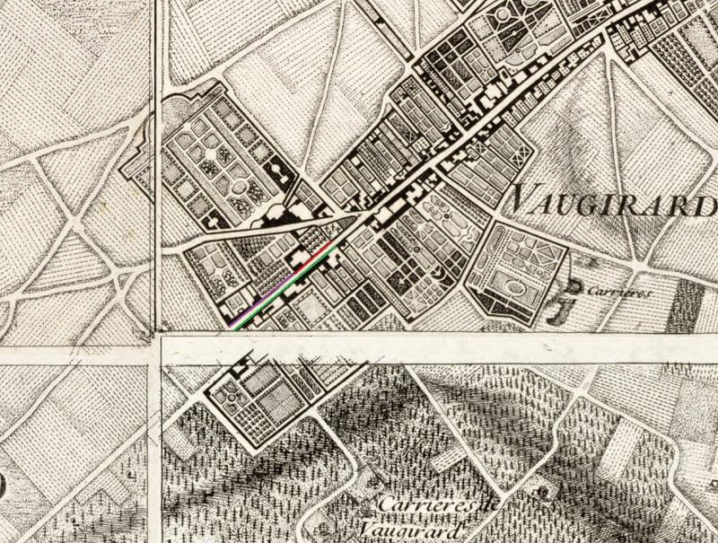 Vaugirard - Plan Roussel - 1731 - Paris 15