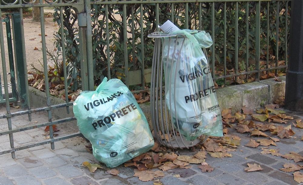 sacs poubelle - propreté - Paris 15