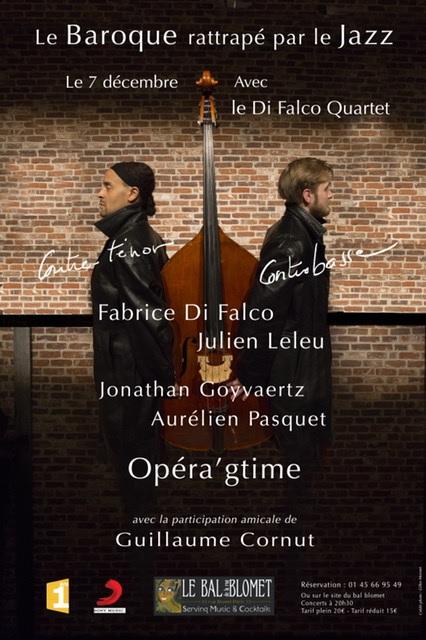 Fabrice Di Falco - Di Falco Quartet - Opera gtime affiche - Bal Blomet - Paris 15