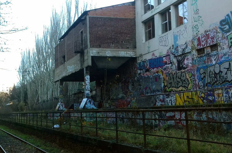 ancienne gare - abattoirs de Vaugirard - petite ceinture - Paris 15 eme arrondissement
