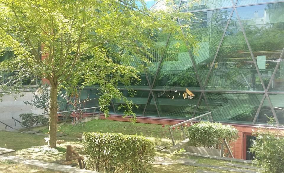 jardin intérieur - médiathèque Marguerite Yourcenar - Paris 15