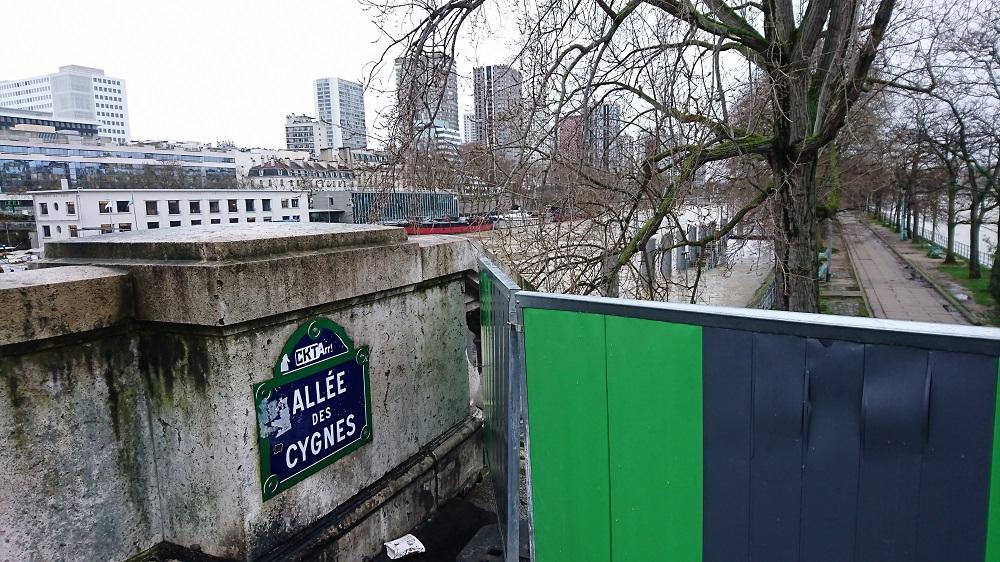 Crue Seine - Ile aux Cygnes Beaugrenelle - Paris 15 eme arrondissement (c) Valgirardin.fr
