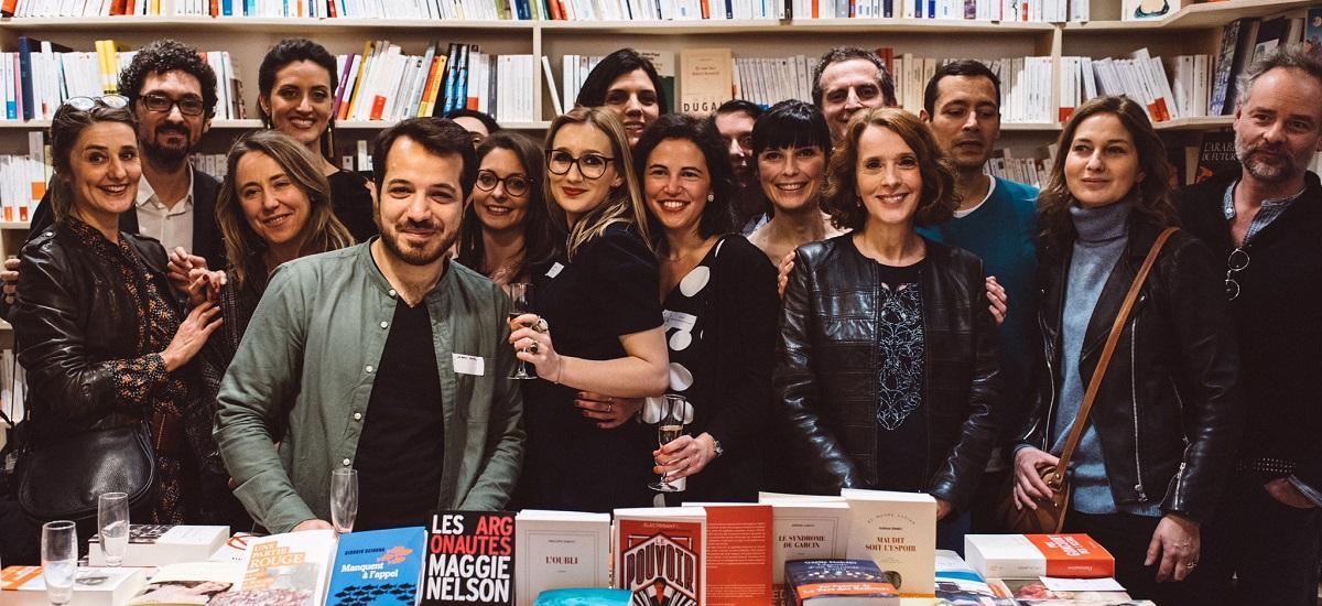 Prix littéraire blogueurs 2018 - Agathe the book - Véronique Olmi - jury - librairie Instant - Paris 15 eme arrondissement (c) Albin Durand