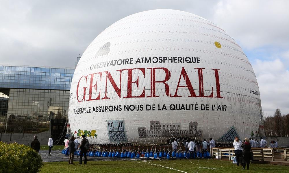 Ballon Generali Airparif - Parc André Citroën - gonflement - Paris 15ème arrondissement (c) E.Hautier