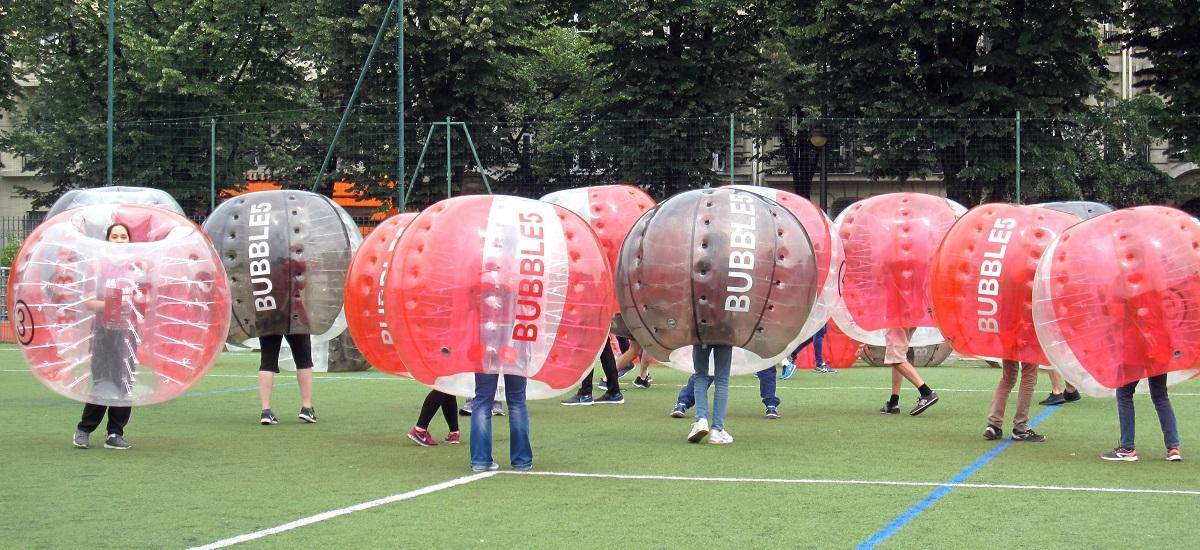 Record du monde - Bubble foot - association Spheres - Paris 15ème arrondissement