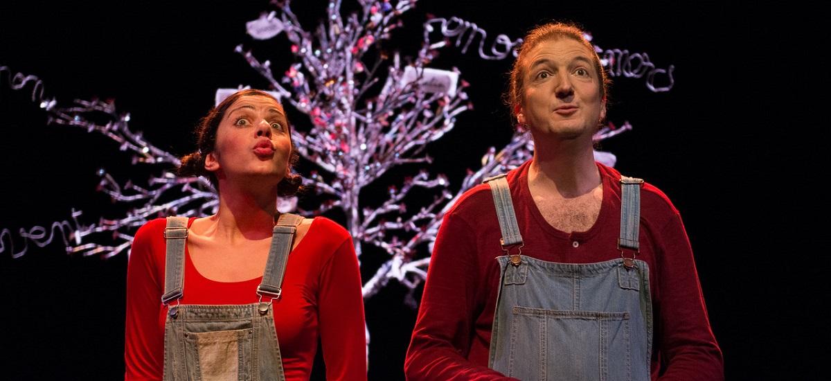 Le Chemin des mots magiques Anne Sylvestre - Theo Théâtre - Compagnie Sémaphore - Julie Brami - David Ruellan - Paris 15 © Arnaud Gaudin
