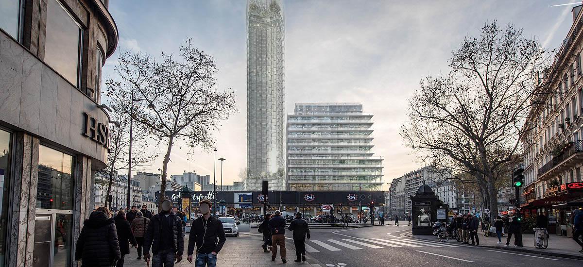 Projet Tour CIT - avec nouvelle Tour Montparnasse - Paris 15