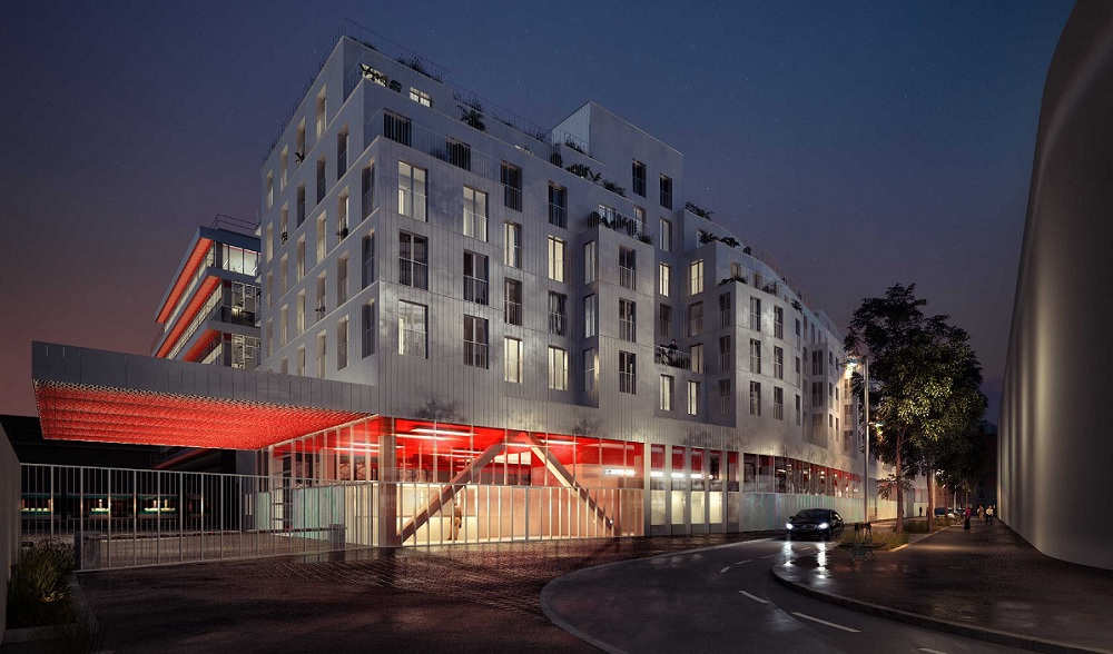 Ateliers Vaugirard RATP - Paris 15 - Perspective © CHRIST & GANTENBEIN