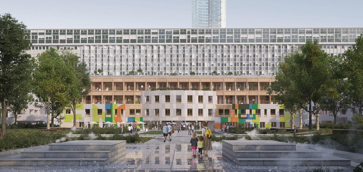 Oasis façade - REI Habitat - SemParisSeine - ateliergeorges - Montparnasse - Paris 15