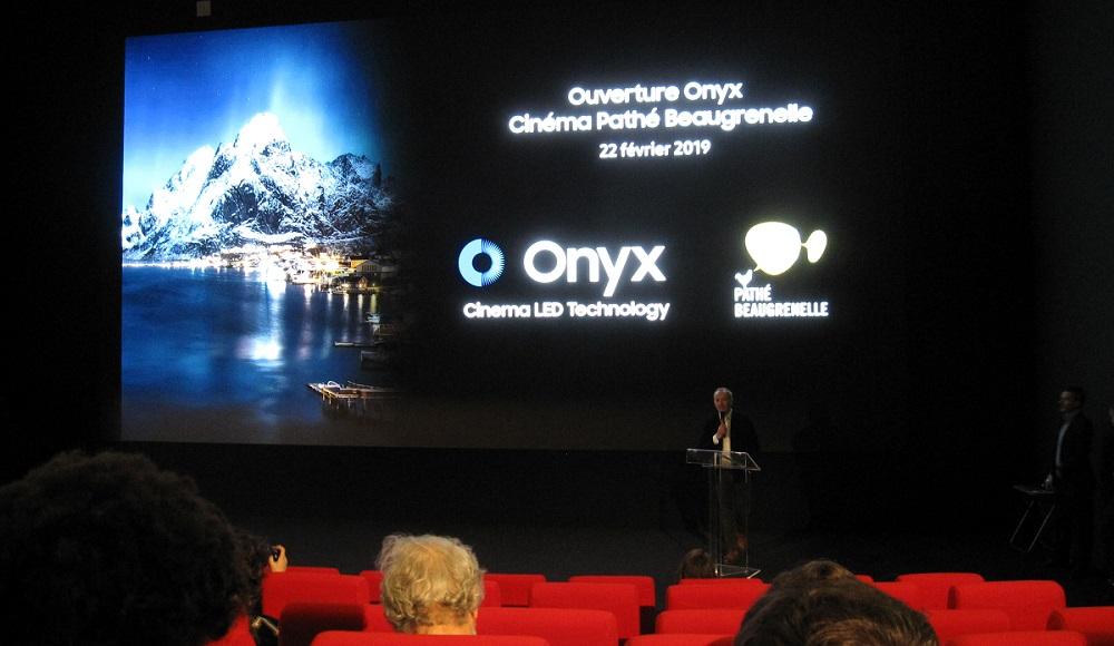 Ouverture - écran Onyx Samsung - Cinéma Pathé Gaumont - Paris 15