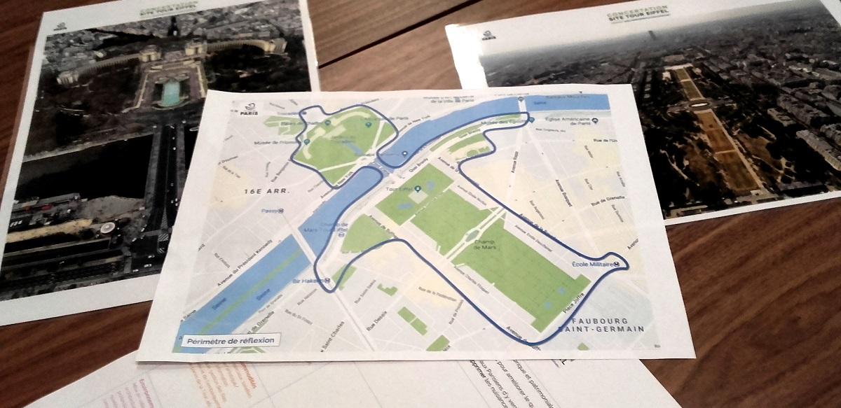 Site Tour Eiffel - périmètre de reflexion - atelier participatif - Paris 15