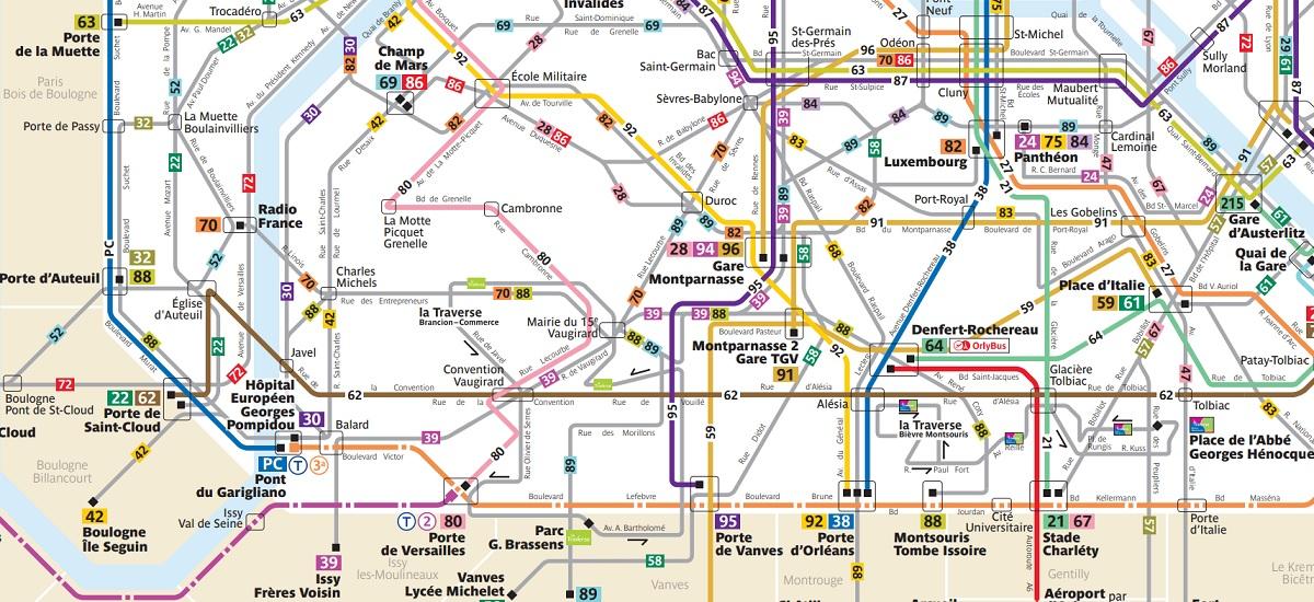 Nouveau plan des bus parisiens - 20 avril 2019 - Paris 15
