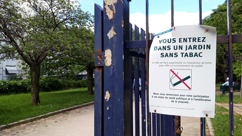 Portail - Jardin sans tabac - Parc Georges Brassens - Paris 15