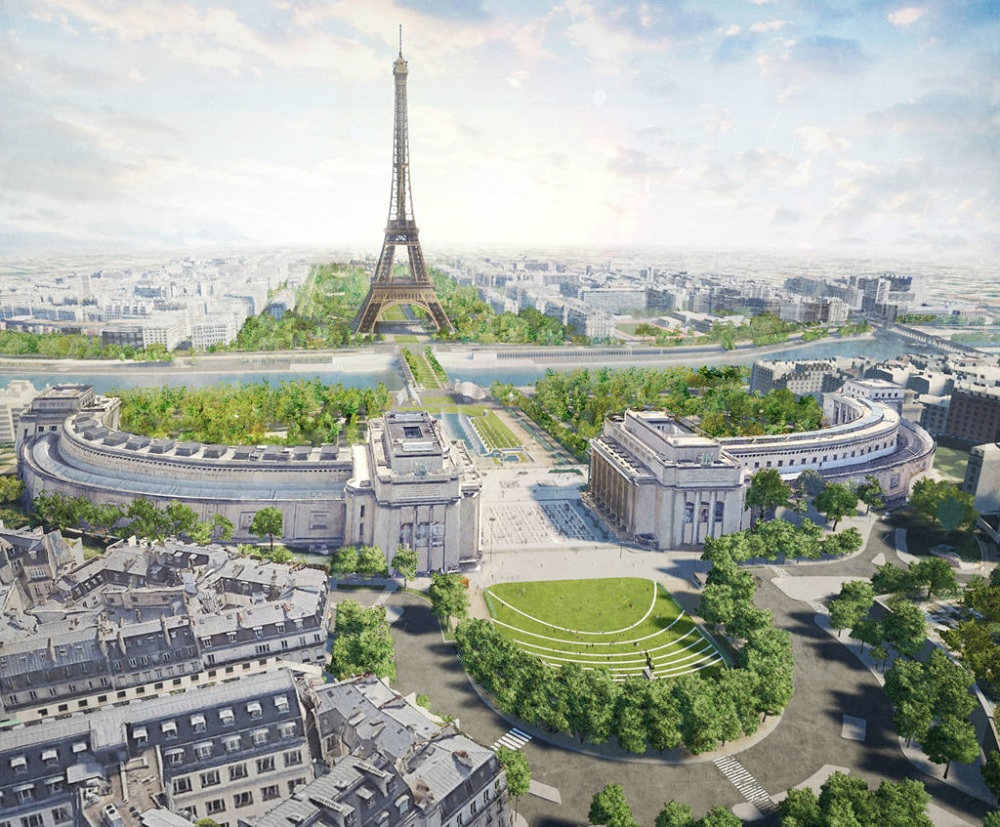 Site Tour Eiffel © Gustafson Porter - Bowman