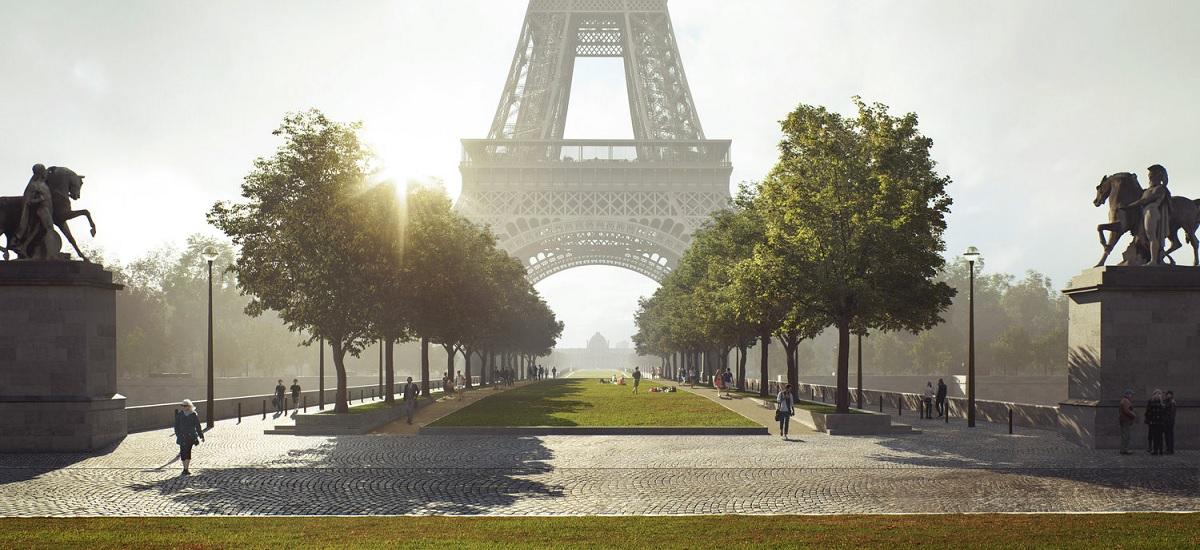 Site Tour Eiffel - pont d'Iéna © Gustafson Porter - Bowman