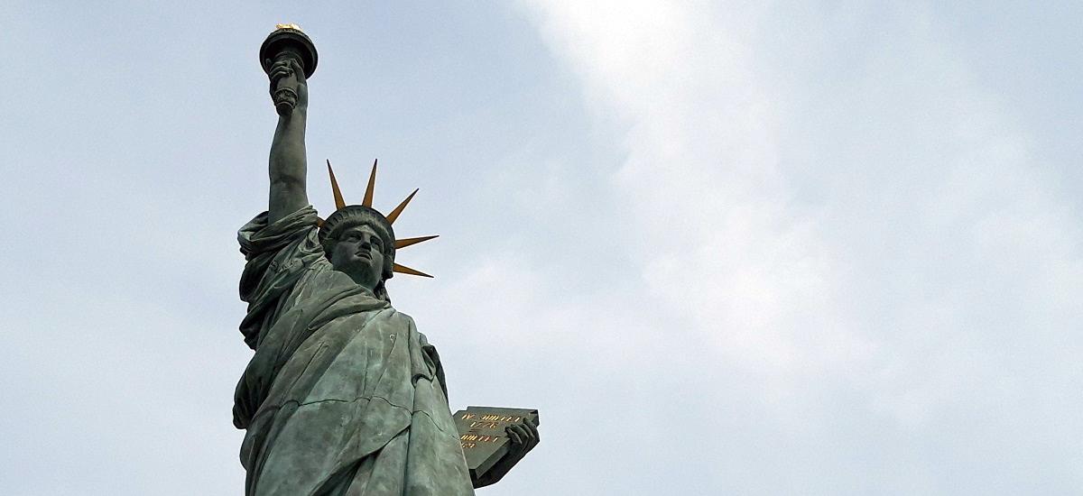 Allée aux Cygnes - statue - La Liberté éclairant le monde - Paris 15
