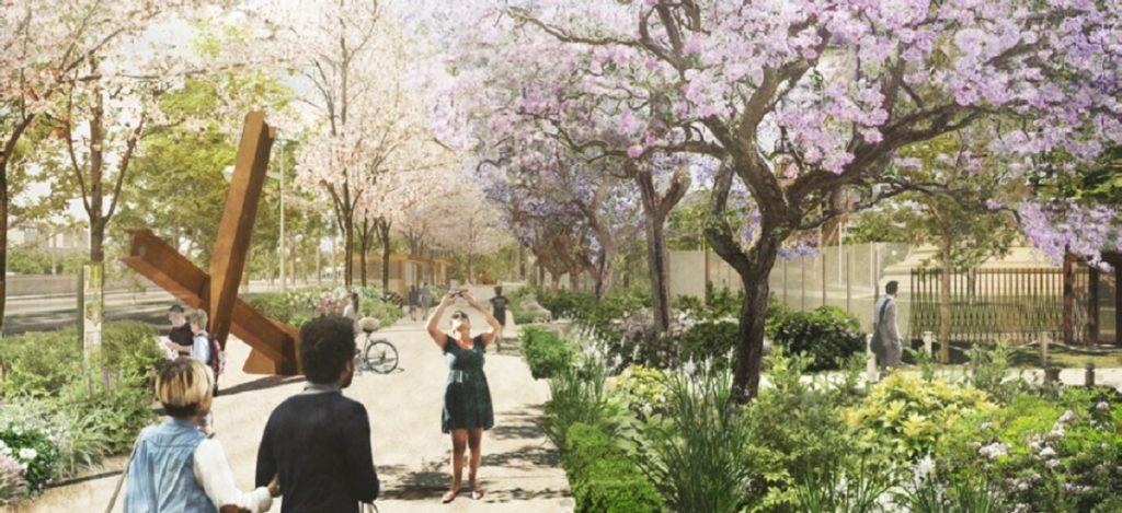 Site Tour Eiffel - La Promenade Bir Hakeim (c) Gustafson Porter - Bowman