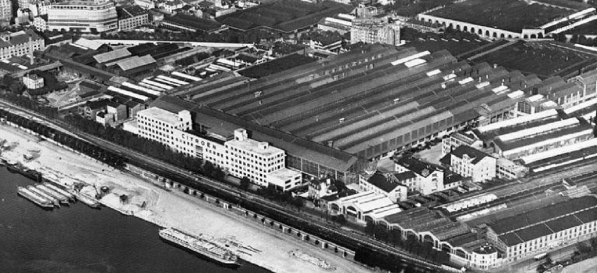 Les usines Citroën à Javel