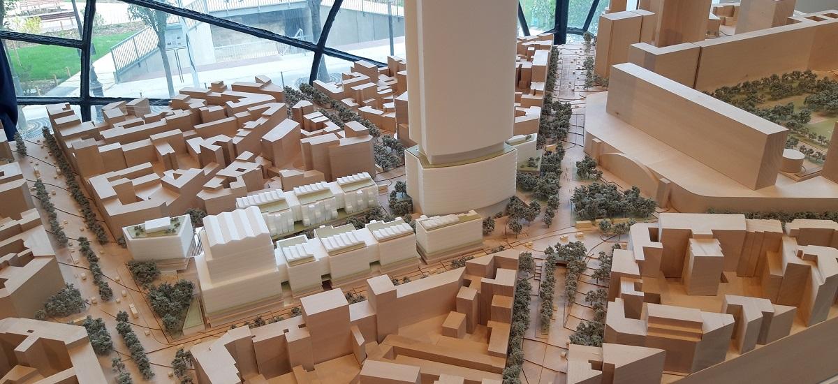 Quartier Maine Montparnasse - maquette projet lauréat - Paris 15 (c) RSHP