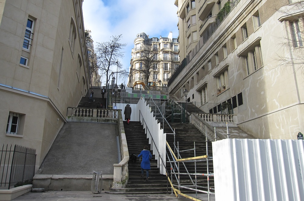 Escalier avenue du parc de Passy - Paris 16