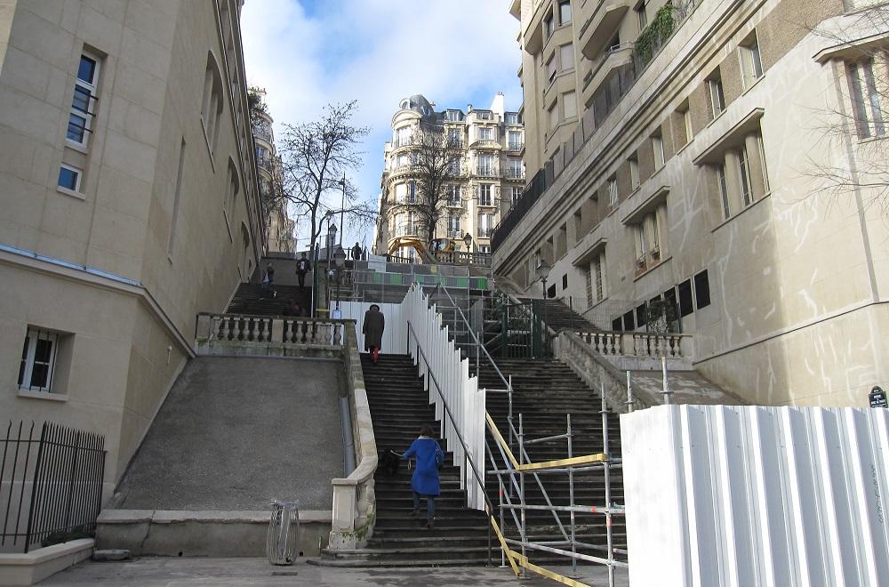 Escalier avenue du parc de Passy - Paris 16