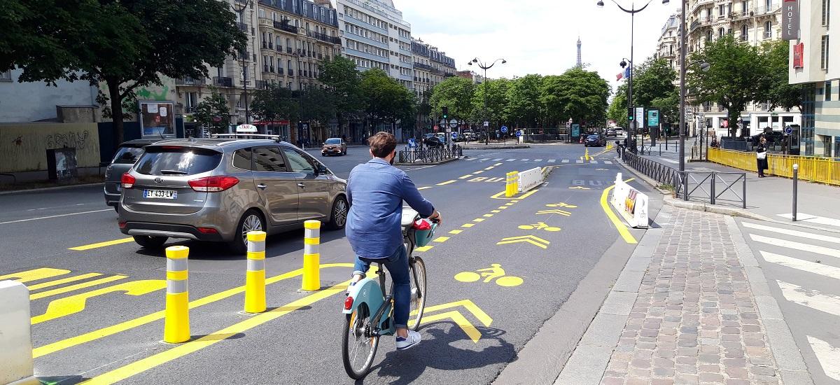 Pistes cyclables boulevard Pasteur - Paris 15
