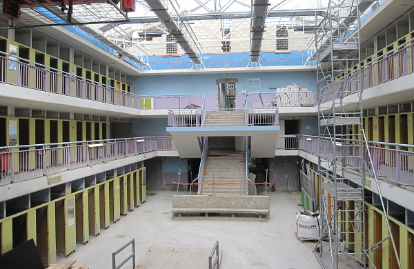 Escalier piscine Blomet travaux - Paris 15