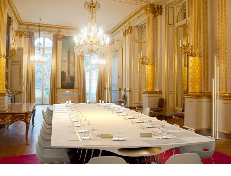 Projet Medulla - table conseils ministres Elysée (c) Etienne Bordes - Misia Moreau - Lucille Poous - Julien Roos - ENSAAMA - Paris 15