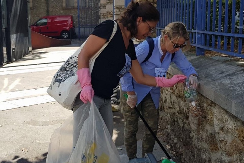 world cleanup day 2019 - quartier - georges brassens - paris 15
