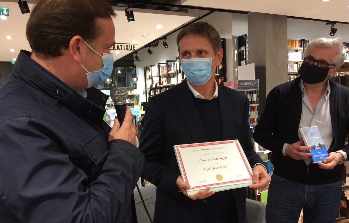 Laurent Petitmangin Prix littéraire Georges Brassens 2020 - Paris 15