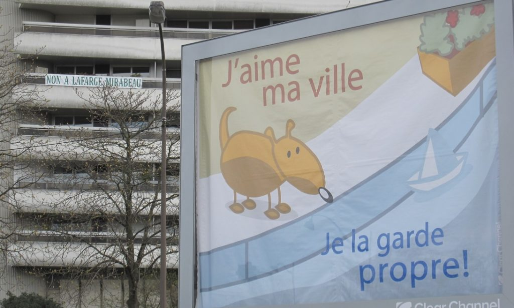 Non à la Centrale à béton Lafarge quai de Javel - Tour Orphée - Paris 15