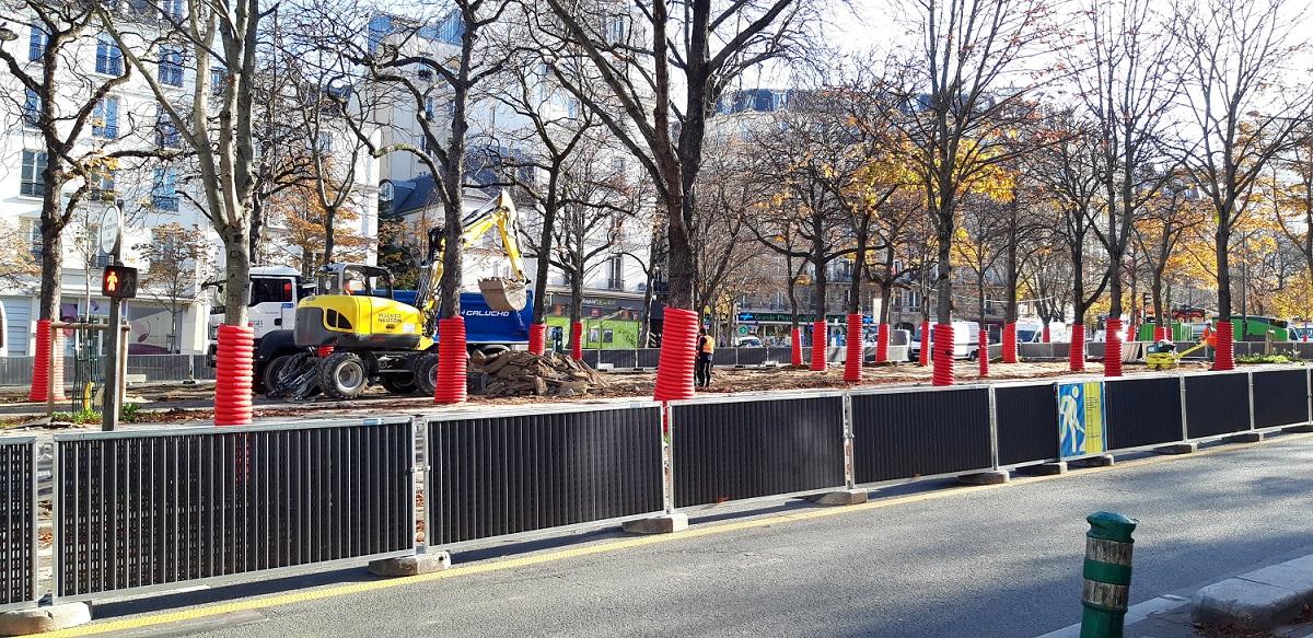 Travaux végétalisation boulevard Pasteur Paris 15