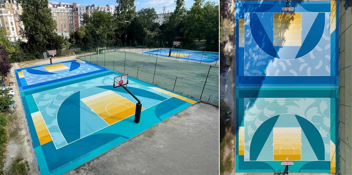 Rénovation des terrains de basket du square du Dr Calmette